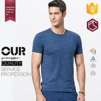 Factory High Quality Short Sleeve 180gram O- Neck Comfort Men Blank Bamboo T Shirts