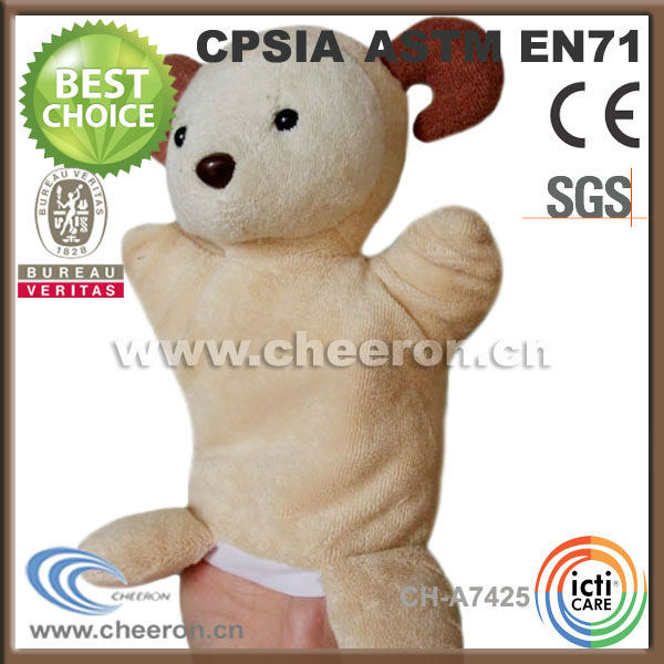 Professional manufacturer of wholesale goat plush toys hand puppet