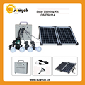 20w dc portable solar lighting kits solar panel kits with led lamps for mobile fans