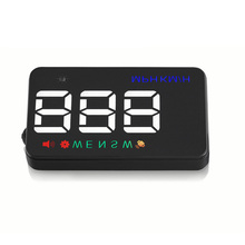 3.5 inch Auto power on GPS HUD head up display Multi-color universal for all cars