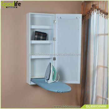 Ironing center furniture wooden wall mounted folding ironing board