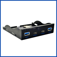 "3.5"" Expansion Floppy Bay Front Panel 2 USB 3.0 with USB Type C (Gen 1) Hub"