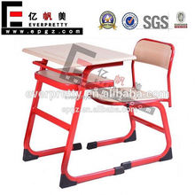Factory Wood Top and Metal Frame Single School Classroom Desk and Chair