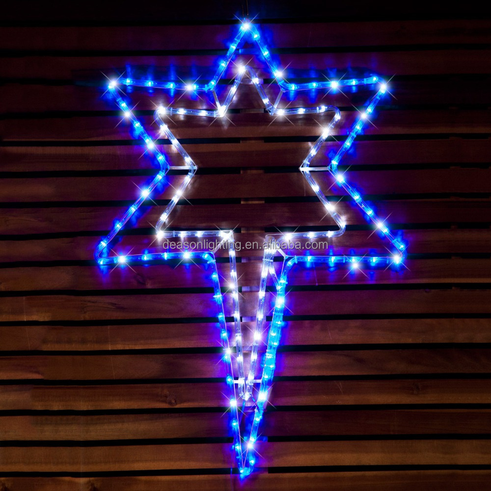 led star tree top light