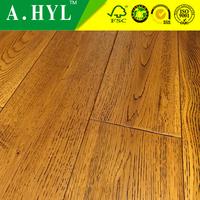 Distressed handscraped solid oak hardwood flooring