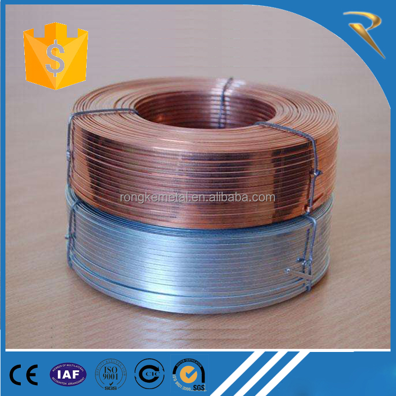 Stitching Flat Wire Galvanized and copper coated