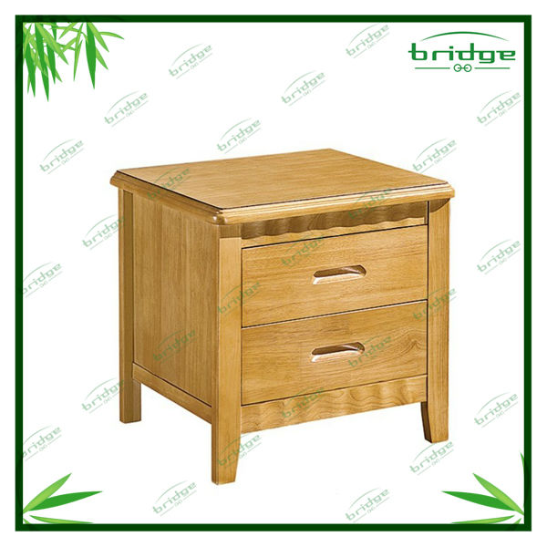 Modern design rubber wood bedside table ,storage cabinet