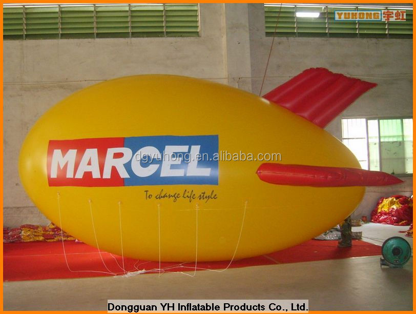 giant PVC tethered blimp for advertising