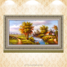 Terrific artwork Chinese scenery landscape fabric canvas framed oil paintings CT-08
