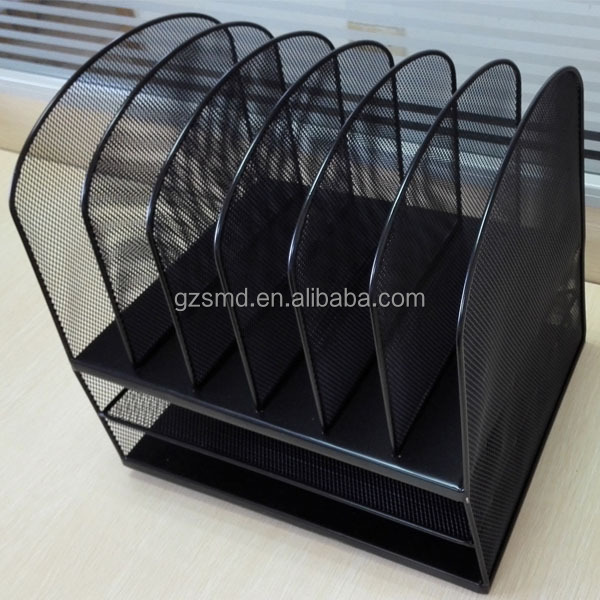 Black Office School Metal Mesh Desk Organizer
