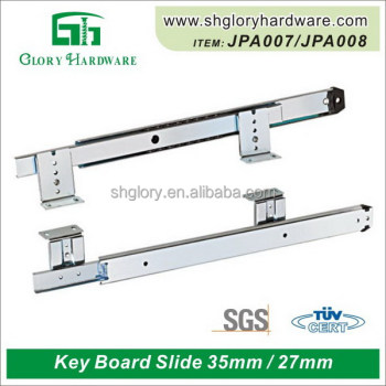 Keyboard slide rail, computer desk keyboard drawer slide 35/27mm