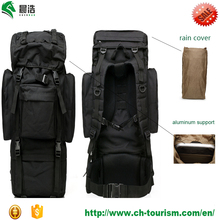 manufactory Roomy space durable waterproof Oxford outdoor black camping rain cover 65 L tactical backpack