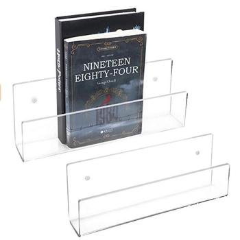 Acrylic Floating Wall Ledges Display Shelves wall mounted book shelves