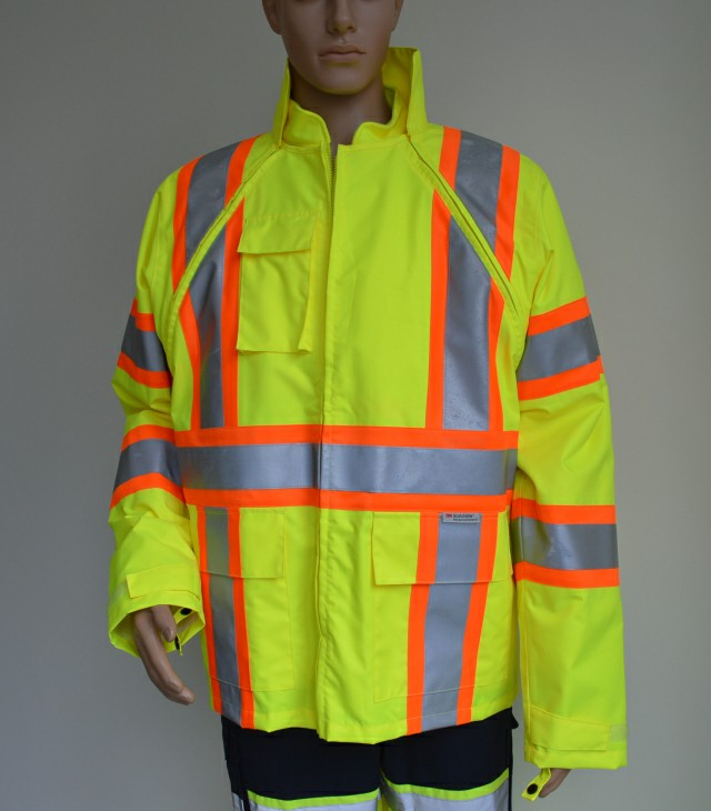 High visibility parka workwear winter construction <strong>safety</strong> working jackets for men