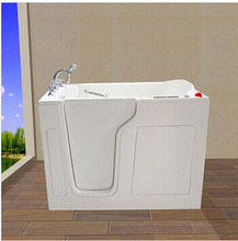 Big deep soaking bathtub for old and disable people with seat CWB3555