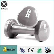 Cast Iron Triangle Vinyl Dipped Dumbbells 5KG