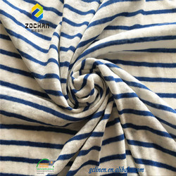 wholesale 100% linen stripe yarn dyed knitted fabric