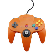 Box Packaging Orange Color USB Game Wired Controller Joypad Joystick Gamepad For N64 Game System