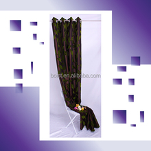 100% Polyester faux silk + flocking window curtain