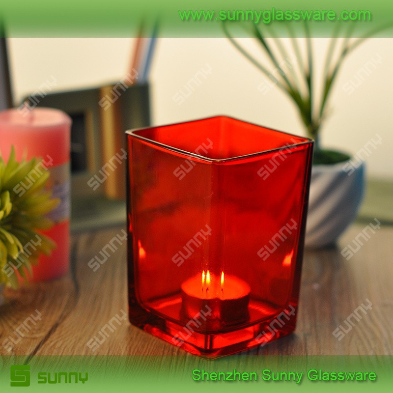 Lead Free High Quality Clear Square Candle Holders Supplier