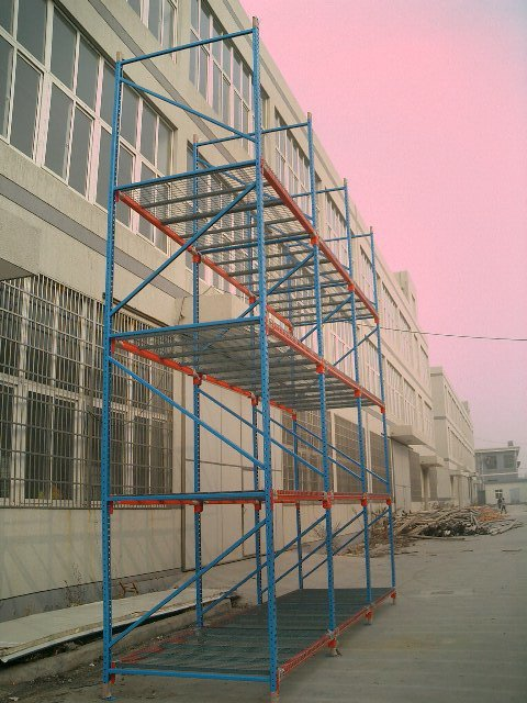 Storage pallet rack for warehouse