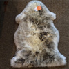 very soft nature sheepskin Lambskin single pelt gray tipped sheepskin rug