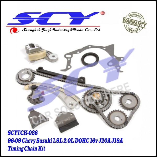 Timing Chain Kit Fits 96-09 for Chevy Suzuki 1.8L 2.0L DOHC 16v J20A J18A
