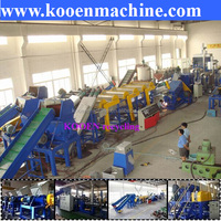 PE PP waste film bottle plastic washing recycling machinery