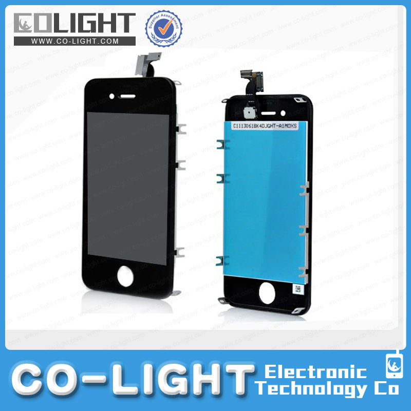 Replacement lcd screen for iphone 4+Digitizer+frame+home button include front panel