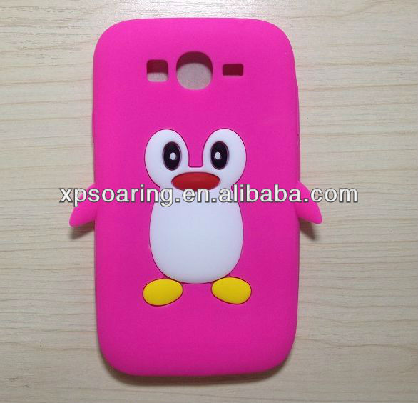 smart penguin case skin cover for Samaung Galaxy Grand duos