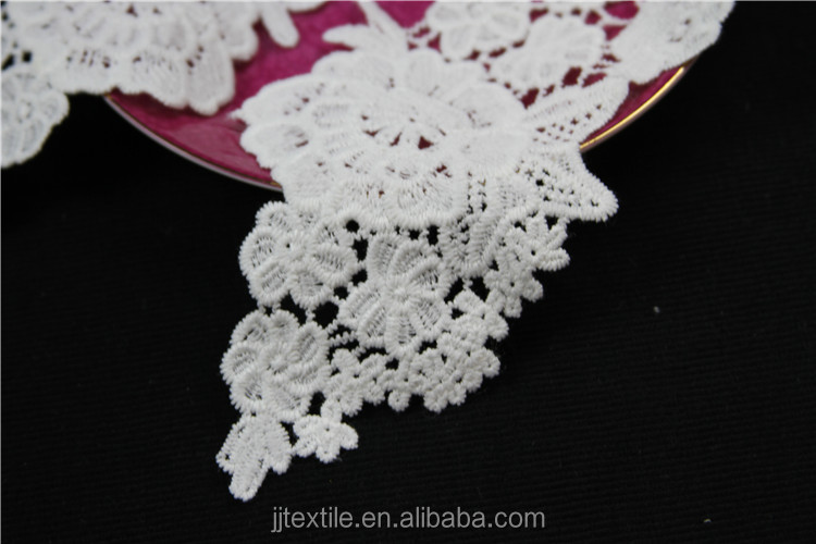 embroidery designs flower trim neck lace collar for women