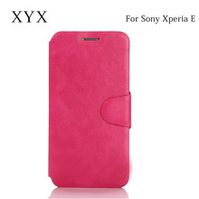 ultrathin design case for sony xperia e4g phone, leather case for sony xperia e, for sony xperia e4g back cover