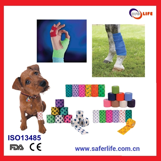 Colored Non-woven Self Adhesive Cohesive Bandage Medical Elastic Bandage