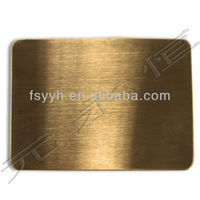 sus304 titanium coated Mirror polishing stainless steel sheet