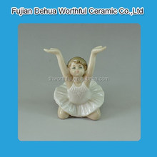 Elegant dancing ballet baby figure ceramic decoration