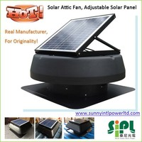 new concept solar powered residential roof top exhaust ventilation fan