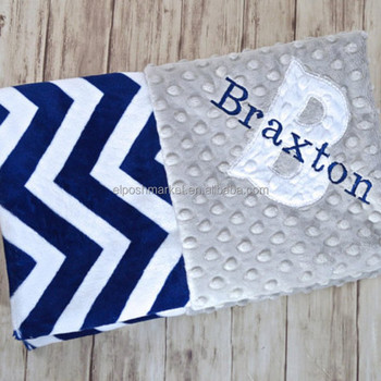 Multi-Function Soft Baby Blanket Gray and White Chevron Blanket