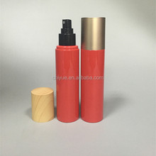 high quality 150ml red pet plastic mist sprayer cosmetic bottle