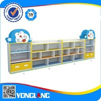 Latest kindergarten kids toy storage cabinet set, kids furniture (Doraemon-shaped No.YL-FW0014)