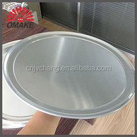 factory selling wholesle price portable design durable baking tools aluminum pizza pan with wide rim