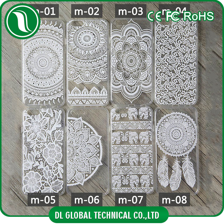 mobile phone accessories mandala designs custom tpu case for iphone 6 DLPC138
