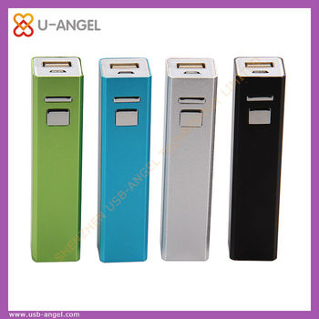Wholesale mini portable power bank 2600mAh ,fashionable lipstick power bank charger by shenzhen factory outlet