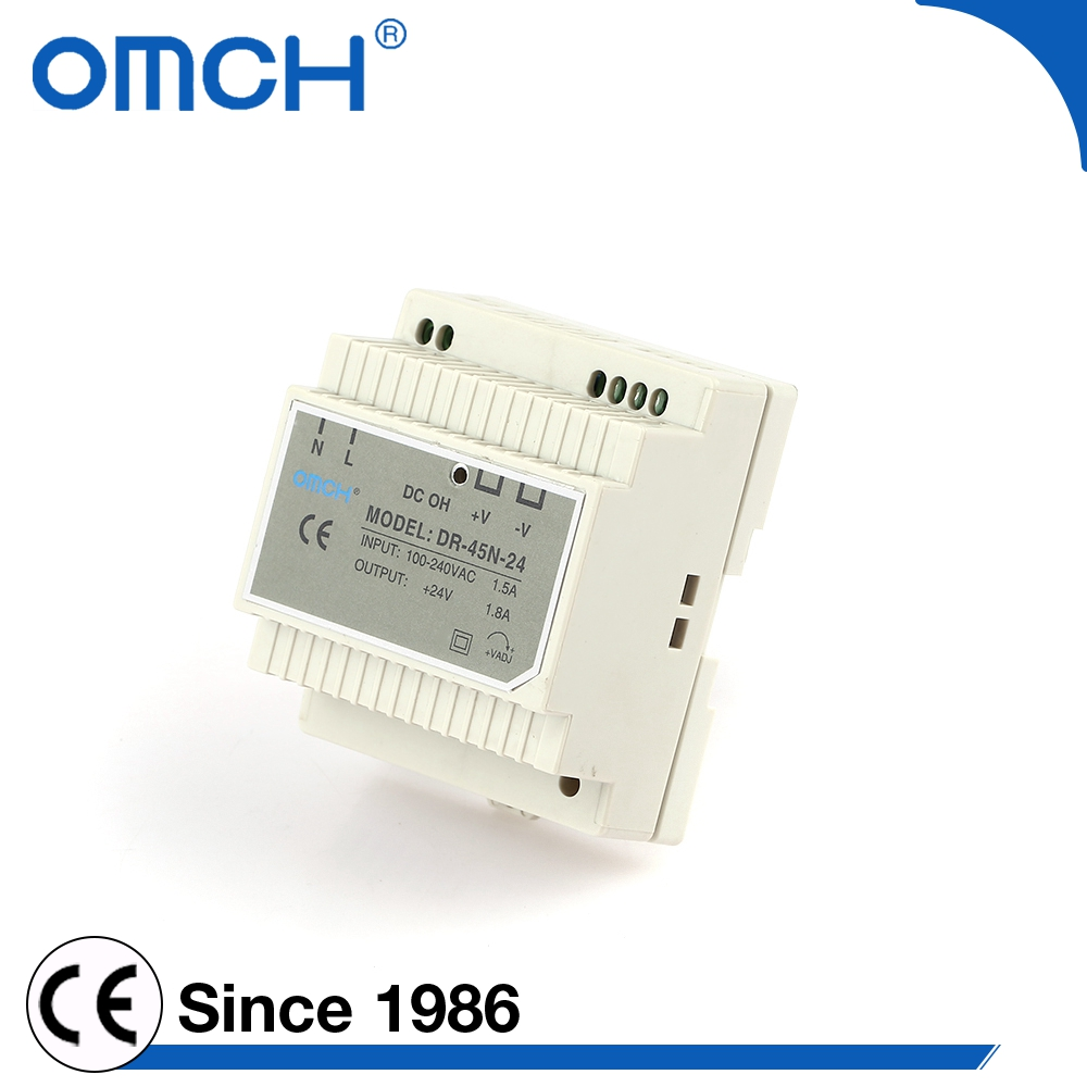 45W 120W 5V 12V 15V 24v Dc Industrial Single Output Din Rail Switching Mode Power Supply Adapter