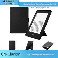 Custom Universal Shockproof Leather Flip Cover for kindle paperwhite black case
