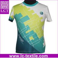 supply 2015 hot customized dye sublimation print 100% spandex polyester cheap advertising t shirt for gym sports(LCTT0313)