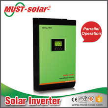 Must-solar PV18 inverter 2kva 3kva 4kva 5kva with 60A 80A MPPT solar charge controller pure sine wave hybrid home solar system