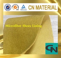 pig grain microfiber shoes lining leather with dry breathable PU coating