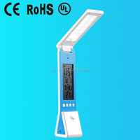 Portable folding led desk lamp rechargeable with LED torch and LCD calendar