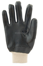 PVC coated working gloves chemical and acid resistant gloves