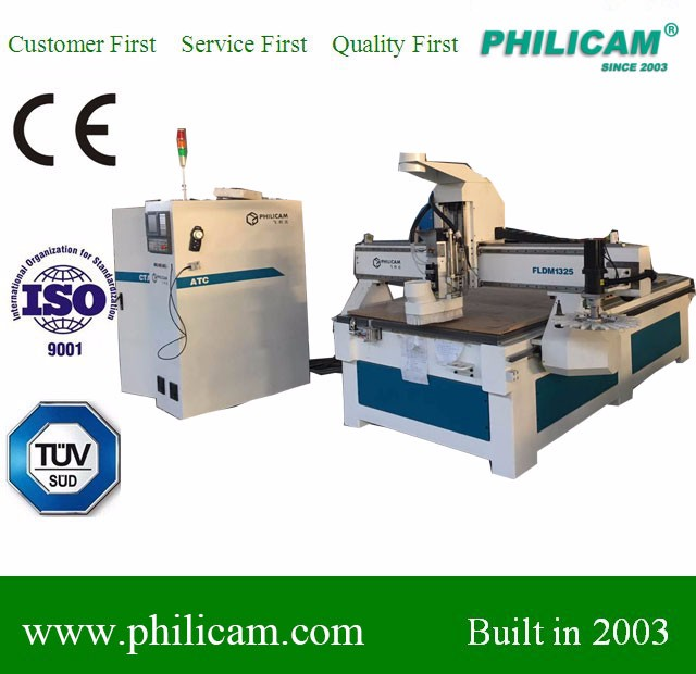 Philicam 1325 woodworking machine ATC cnc router